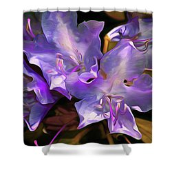 Shower Curtain featuring the mixed media Rhododendron Glory 17 by Lynda Lehmann