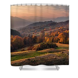 Rhodopean Landscape Shower Curtain