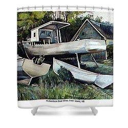 Richardson Boat Shop Shower Curtain