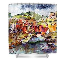 Riomaggiore Cinque Terre Italy Shower Curtain