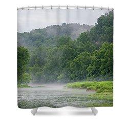 River Mist Shower Curtain