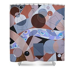 River Of Eyes Shower Curtain