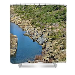 River On The Rocks. Color Version Shower Curtain
