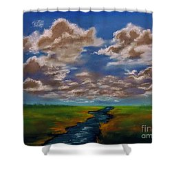 River To Nowhere Shower Curtain
