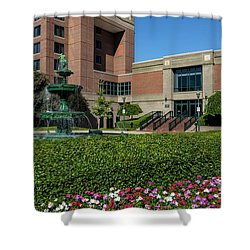 Riverwalk Augusta Ga Fountain Shower Curtain