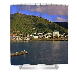 Shower Curtain featuring the photograph Road Harbour by Tony Murtagh