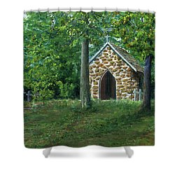 Rock Chapel Near Mansfield, Louisiana Shower Curtain