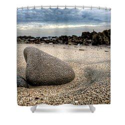 Rock On Beach Shower Curtain