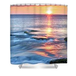 Rockport Pastel Sunset Ma. Shower Curtain