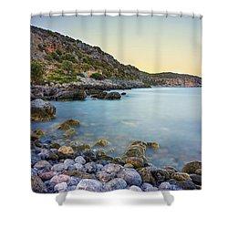 Rocky Coast Near Monemvasia Shower Curtain