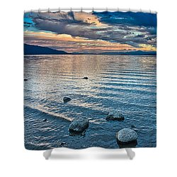 Rocky Lake Vista Shower Curtain
