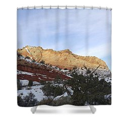 Rocky Slope Shower Curtain