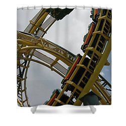 Roller Coaster Loops Shower Curtain