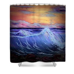 Rollin On The Rocks Shower Curtain