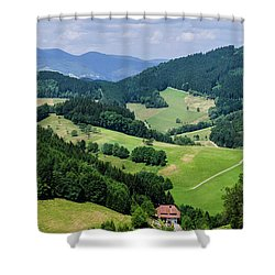 Rolling Hills Of The Black Forest Shower Curtain