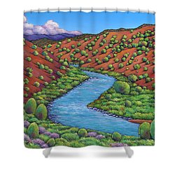 Rolling Rio Grande Shower Curtain