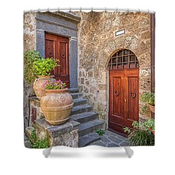 Romantic Courtyard Of Tuscany Shower Curtain