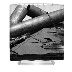 Roof Rubble Shower Curtain