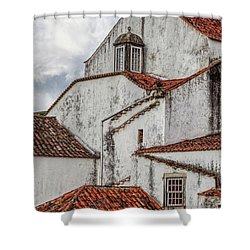 Rooftops Of Obidos Shower Curtain