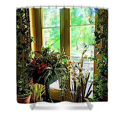 Shower Curtain featuring the photograph Room With A View by Joan Reese