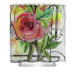 Rose Is Rose Shower Curtain