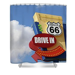 Route 66 Drive-in Sign Shower Curtain