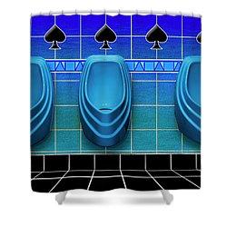 Royal Flush Shower Curtain
