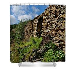Ruins Of A Schist Cottage In Alentejo Shower Curtain