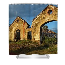 Ruins Of The Abandoned Mine Of Sao Domingos. Portugal Shower Curtain
