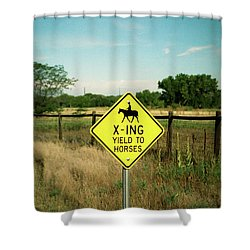 Rules Of The Road Shower Curtain
