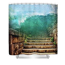 Run Run Run Shower Curtain