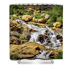 Shower Curtain featuring the photograph Runoff by Jon Burch Photography