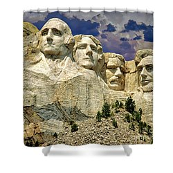 Shower Curtain featuring the photograph Rushmore by Edmund Nagele