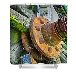 Rusted Hub Shower Curtain