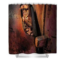 Rusty Hinge Shower Curtain