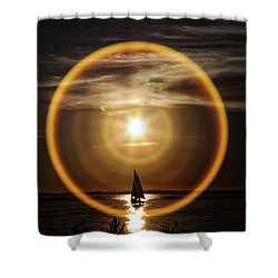 Sail In The Halo Shower Curtain