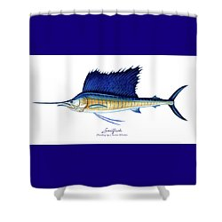 Sailfish Shower Curtain
