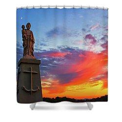 Saint Joseph Sunset  Shower Curtain