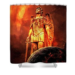 Shower Curtain featuring the photograph Saint Michael by Michael Arend
