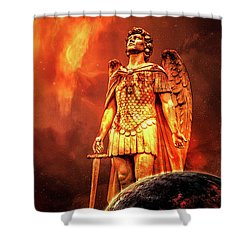 Shower Curtain featuring the photograph Saint Michael The Archangel by Michael Arend