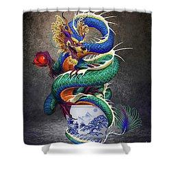 Sake Dragon Shower Curtain