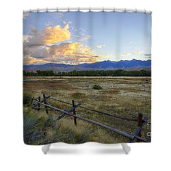 Salmon Valley Dawn Shower Curtain