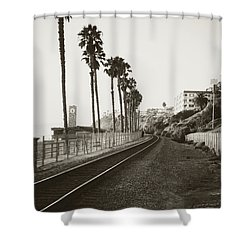 San Clemente Train Tracks Shower Curtain