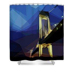 San Francisco Bridge Shower Curtain