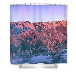 Sandia Mountain Sunset Shower Curtain