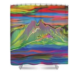 Santa Fe Sunset Shower Curtain