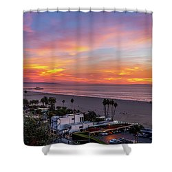 Santa Monica Pier Sunset - 11.1.18  Shower Curtain