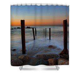 Santa Monica Sunrise Shower Curtain