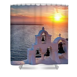 Santorini Sunset Shower Curtain