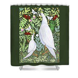 Sapientes Pacis Birds Shower Curtain